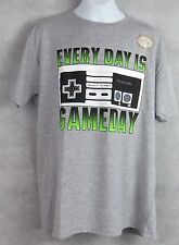 Nintendo Boys T-Shirt Every Day Is Gameday New Gray Officially Licensed