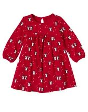 Gymboree Penguin Chalet Red Print Dress 18-24 or 3T NWT