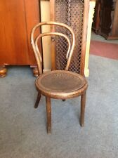 Vintage Child's Bentwood Thonet Chair Quirky Cafe Bistro
