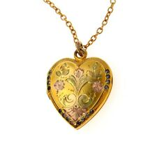 Victorian Love Token Heart Locket Pendant Necklace