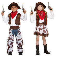 Child Cowgirl + Cowboy Costume Fancy Dress Up Kids Costume Western Costume 4-12