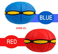 Frisbee Novelty Flying UFO Flat Ball Phlat Throw Disc Toy Soft Kids Outdoor