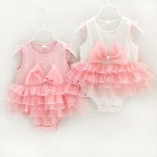 Newborn Infant Baby Girl Princess Tutu Romper Bodysuit Gift Dress Outfit Clothes