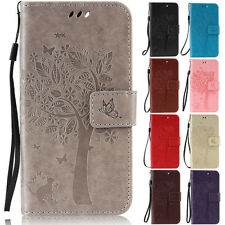 Cat Tree Wallet Leather Flip Case Cover Stand For Sony Xperia Z3/Z5/M4/M5/C5/C6