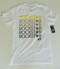 "ROCKSTAR ENERGY ""PICASSA"" LADIES/WOMENS T SHIRT M(10) or L(12) ONE INDUSTRIES"