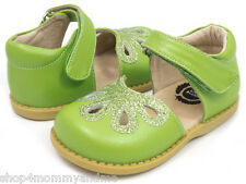 LIVIE & LUCA Petal Grass Green Leather Mary Jane 7 12 13 Boutique Girls Shoe