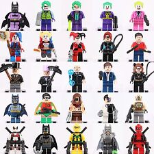 Dc comics Collection Batman Marvel Joker Harley Quinn  Set Mini figure fit Lego