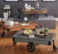 Rustic Coffee Table Modern Industrial Cocktail Table Living Room Furniture Decor