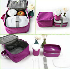 Japanese Bento Lunch Box with Mug & Insulated Tote Bag Picnic Lunchbox Container