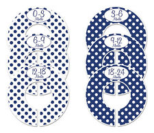 Navy boy #c152 polka dots Baby Closet Dividers Clothes Organizers 6