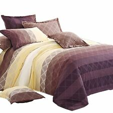 Diamond Patterned Doona Quilt Duvet Cover Double Queen King Super King Bed Size