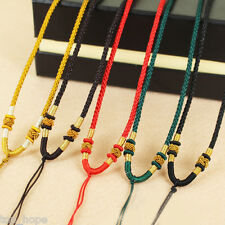 1PC DIY Necklace Pendant Crystal Pendant Rope Hand-knitted Cord Hand-woven Rope