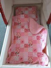 SILVERCROSS DOLLS PRAM/LARGE COT PILLOW & BLANKET PATCHWORK IN PINK - COVER SET