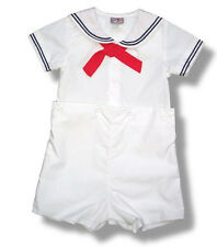Petit Ami Sailor Suit Boys White Infant Toddler NWT