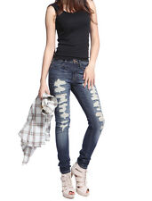 Big Hole Ripped Denim Pencil Pants Sexy Women Skinny Jeans Stretchy Jeggings