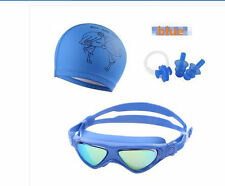 Kids Swimming Goggles Swimmuing Cap Ear Plugs Nose Clip Comfortable Training kit
