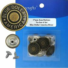17 mm No-Sew Replacement Jean Tack 6 Buttons