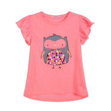 BQT Baby girls OWL tee, FLURO PINK/FLURO ORNAGE RRP$18.95 SIZE 0-2 SS16B06A