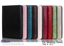 """Screen Protector &Crocodile Pattern Leather case for Samsung Galaxy Tab 4 10.1"""""""