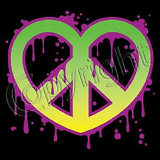 Heart Peace Sign T Shirt All Sizes & Colors New