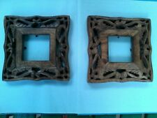 2  Rustic Carved Detail Wooden Picture Frames
