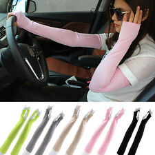 Cotton Long Fingerless UV Sun Protection Golf Driving Cover Gloves Mittens