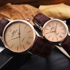 Casual Unisex Analog Quartz Leather Watch Wrist Strap Mate Watches Fashion JHL