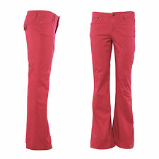Fashion Vintage Womens Flare Jeans Ladies Boot Cut Denim Slim Casual Trouser Red
