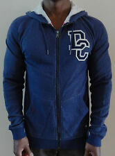 100% AUTHENTIC MENS DC SHOES SILVER RAYS ZIP HOODIE / JACKET SIZE M BLUE