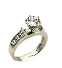 Solitaire Dazzling Wedding Engagement Ring 925 Sterling Silver 1.49Ct Clear CZ