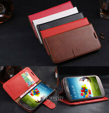 Luxury Real Cow Leather Wallet Stand Case Cover For Samsung Galaxy S3 i9300