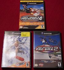 """Lot of 3 sport Wii - GameCube """"E"""" & """"T"""" games"""