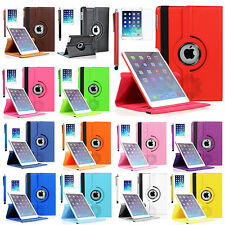For iPad Air Air 2 360 Rotating PU leather smart Case with stand Sleep Wake Up