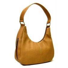 Le Donne Leather Single Handle Side Zip Hobo Bag. Free Delivery
