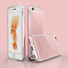 Hybrid Aluminum Metal Bumper Frame + PC Clear Back Case Armor For iPhone 6S Plus