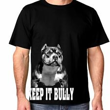 Keep it Bully Men's pit bull and bully breed t shirt for Pitbull lovers!
