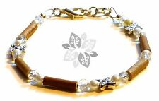 Hazelwood Therapeutic White Crystal & Silver Bracelet #