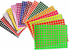 """Color Coded Stickers 3/8"""" Round Labels Small Dots 0.375 Inch Circle 10 mm"""
