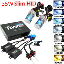55W HID Xenon Bulbs Headlight Slim Ballast Conversion Kit H1 H3 H4 H7 9005 9006