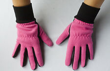 BRAND NEW PAIR OF LADIES PINK WINTER POLAR FLEECE OUTDOOR GLOVES