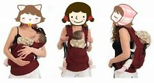 New Warm Cotton Front & Back Baby Carrier Comfort Backpack Sling Wrap F5