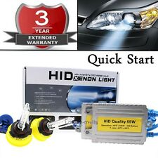 ALL COLOR AC 55W Quick Start HID Headlight Replacement Light Bulb KIT 9005 6K 8K