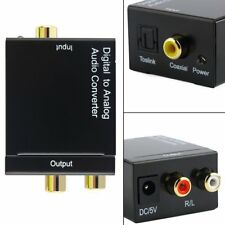 Converter Adapter RCA Digital Optical Coaxial Toslink Signal to Analog Audio DP