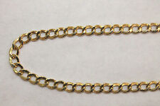 "10K Yellow Gold Hollow Cuban Link Chain Necklace 5MM 20"" - 26"" inches"