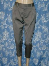 ALICE + OLIVIA GREY SOFT TWILL CROPPED SKINNY PANT TROUSERS NWT sizes 0 / 2 / 6