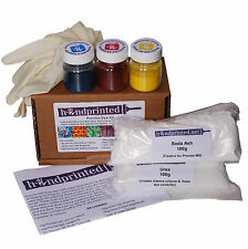 Handprinted Procion Dye Kit (tie dyeing, shibori, procion mx, cold water, dip)