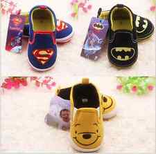 Toddler infant Baby Girls Boys Cartoon soft Crib Shoes Size 0-18 Months