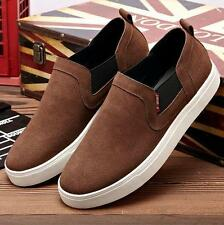 Mens suede slip on loafer driving shoes plus size US6.5-11.5 skate board