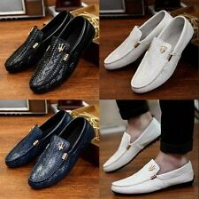 New Mens Summer Casual Slip on Loafers Moccasin Shoes Top Leather Driving Shoes