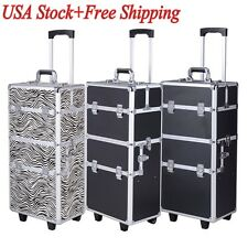 Aluminum Pro 3 in1 Rolling Makeup Cosmetic Train Case Wheeled Box 3 Color